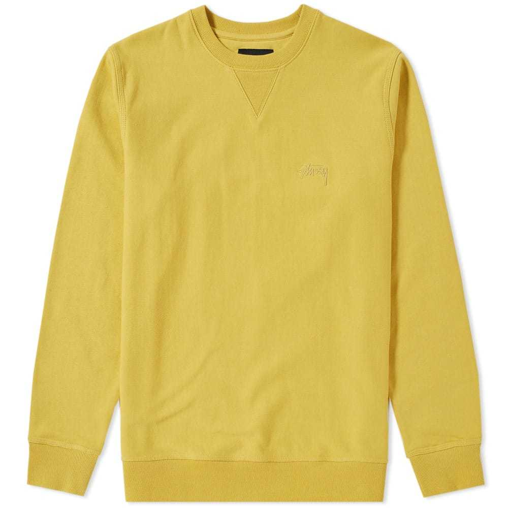 Photo: Stussy Terry Crew Sweat Yellow