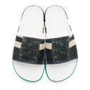 Raf Simons Black adidas Originals Edition Samba Adilette Slides