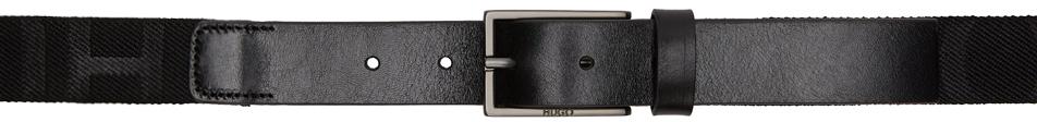 Hugo Black Gild Tape Belt