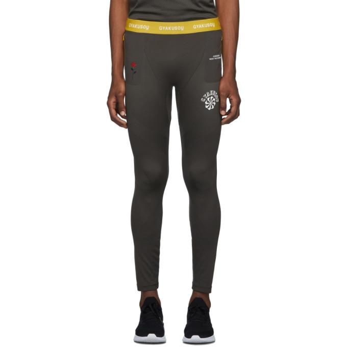 Photo: Nike Grey and Yellow Gyakusou Helix Tights