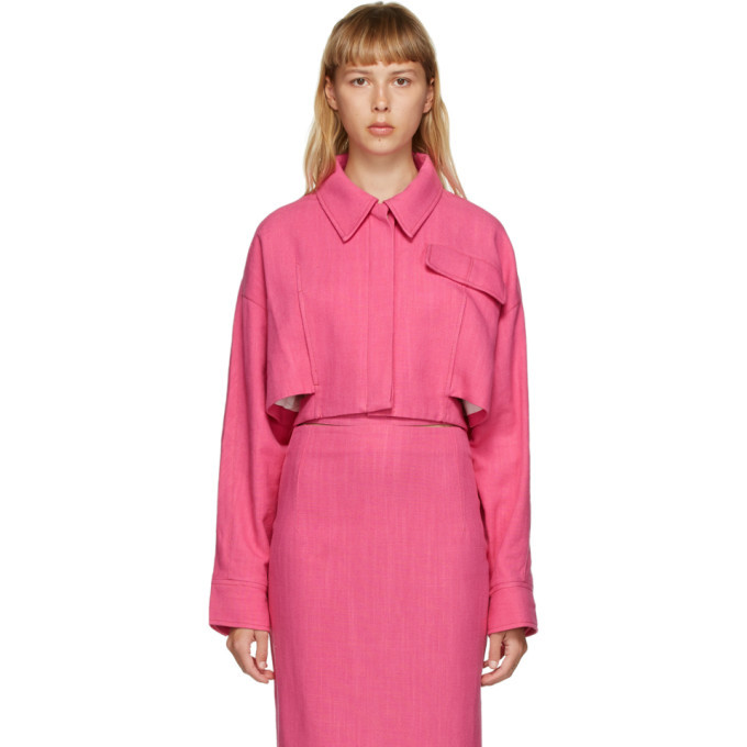 Photo: Jacquemus Pink La Veste Esterel Shirt