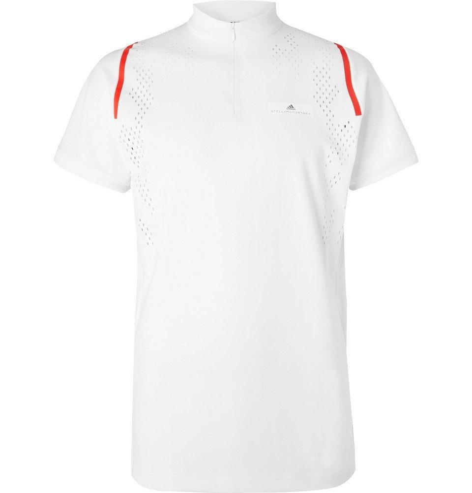 Photo: Adidas Sport - Stella McCartney Free-Lift Slim-Fit Stretch-Jersey Tennis T-Shirt - White
