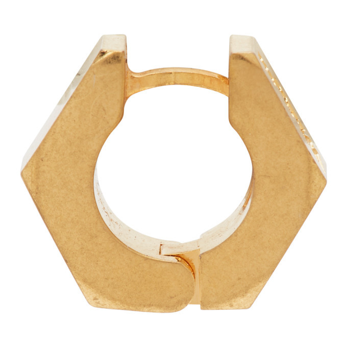 Photo: Off-White Gold Hexnut Single Earring