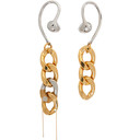 Sacai Gold and Silver Chain Earrings