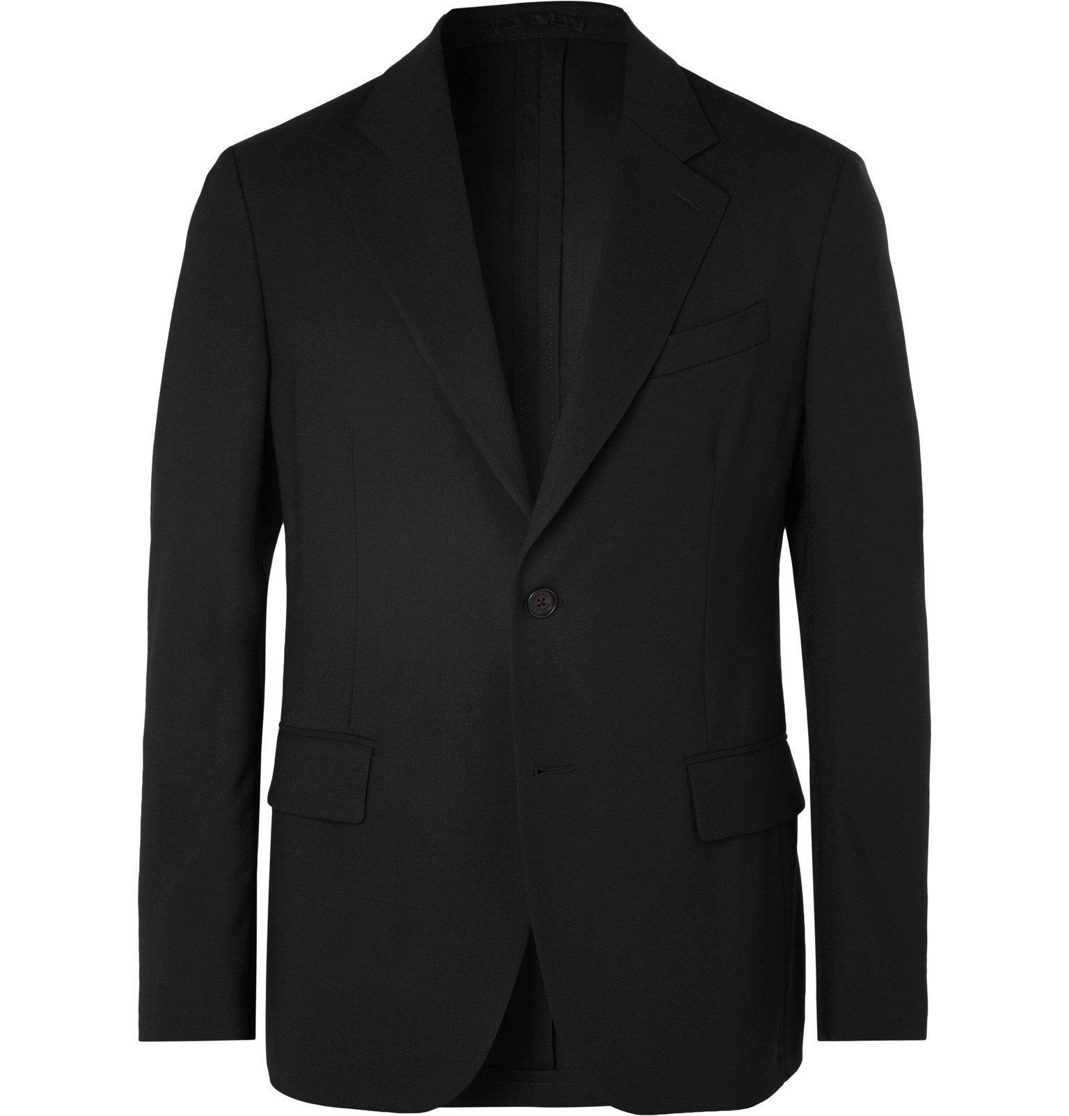 Photo: Versace - Black Virgin Wool Suit Jacket - Black