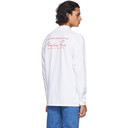 Martine Rose White Mock Neck Long Sleeve T-Shirt