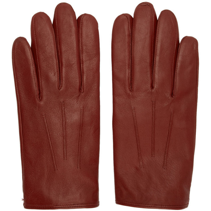 Photo: Hugo Red Leather Gloves