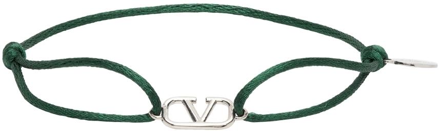 Photo: Valentino Garavani Green Cord VLogo Bracelet