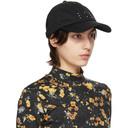 MCQ Black Twill Embroidery Cap