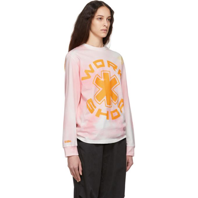032c Pink Cosmic Workshop Long Sleeve T-Shirt