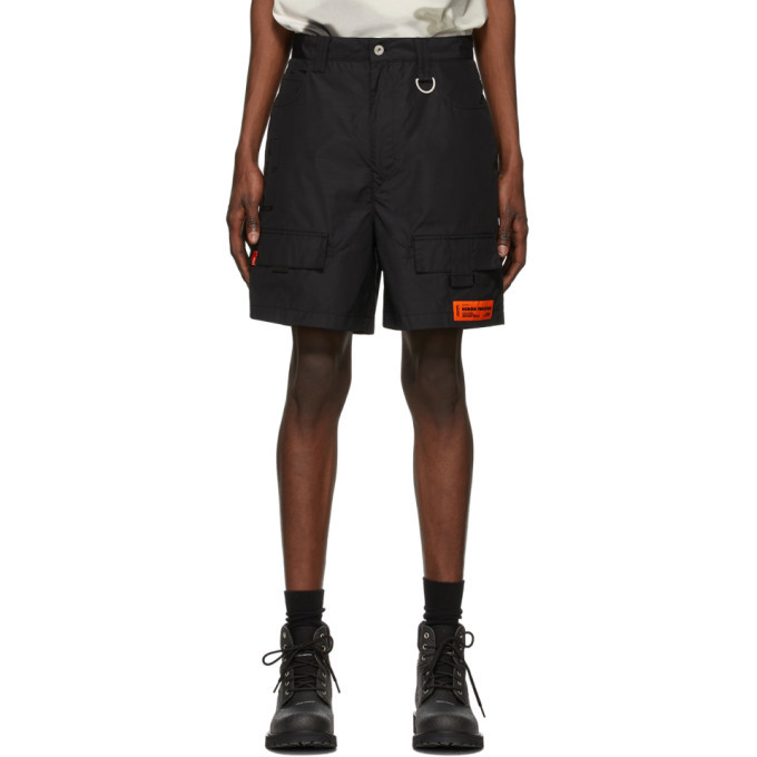 Photo: Heron Preston Black New York Cargo Shorts