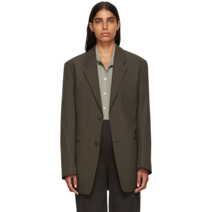 Photo: Lemaire Brown Single-Breasted Jacket