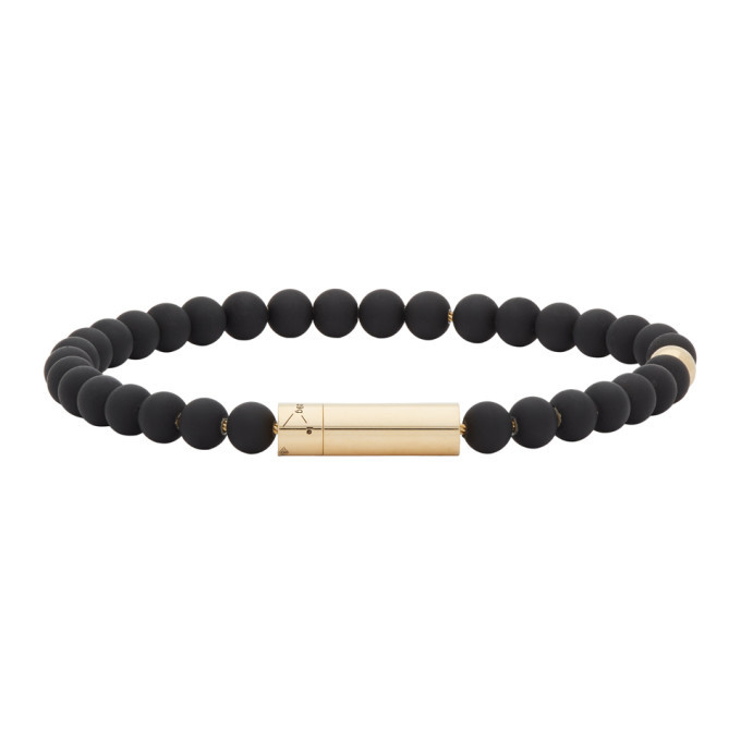 Photo: Le Gramme SSENSE Exclusive Black and Gold Beaded Bracelet