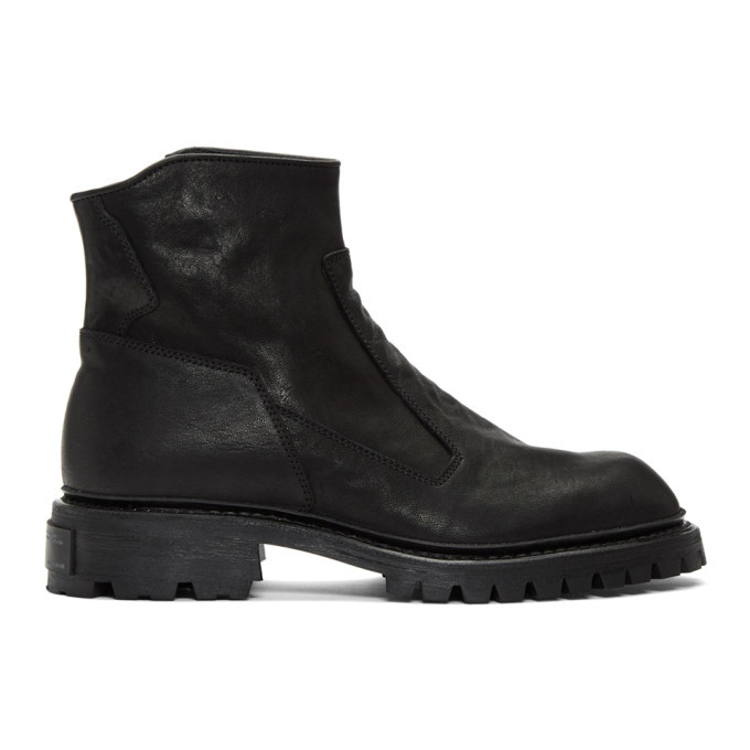Photo: Julius Black Slash Zip Boots
