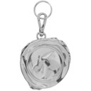 Raf Simons Silver Crushed Can Keychain