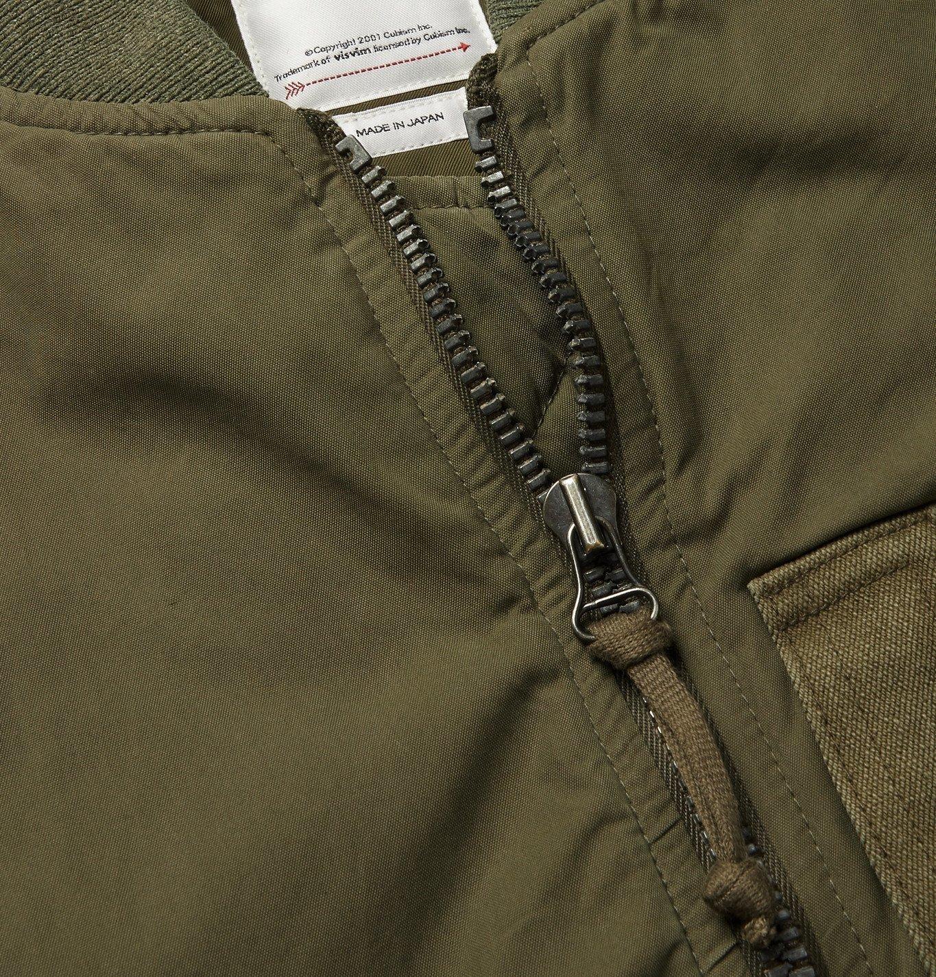 visvim - Thorson Padded Cotton-Blend Bomber Jacket - Green