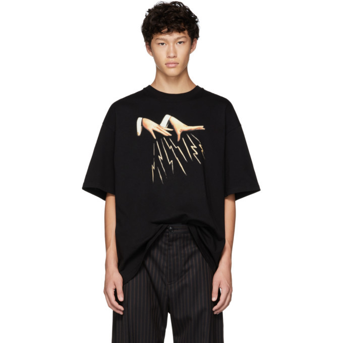 Photo: Lanvin Black Magic Hands T-Shirt