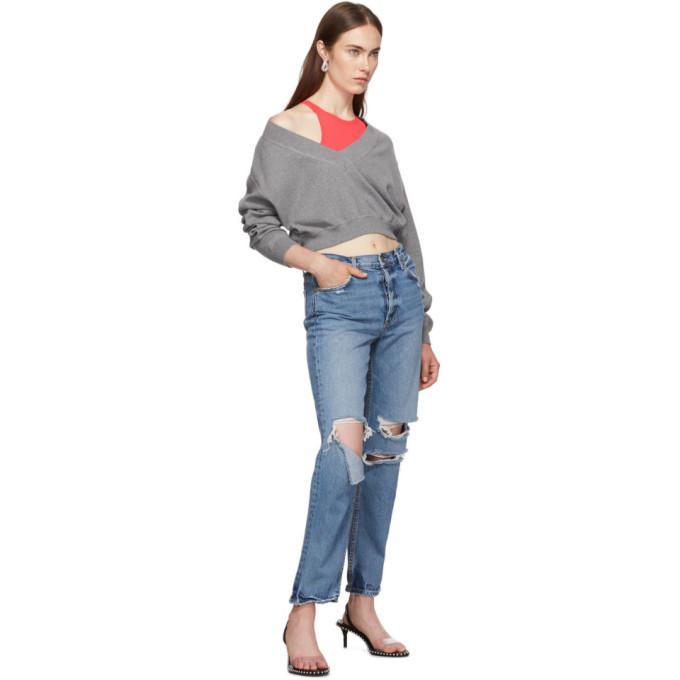 alexanderwang.t Grey and Pink Bi-Layer Sweater