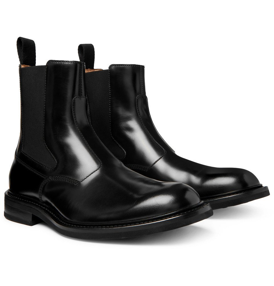 Photo: Bottega Veneta - Leather Chelsea Boots - Black