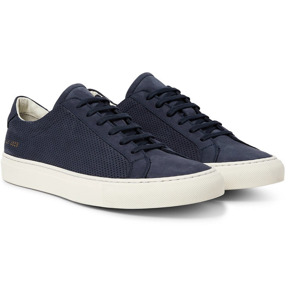 Common Projects - Achilles Perforated Nubuck Sneakers - Men - Blue