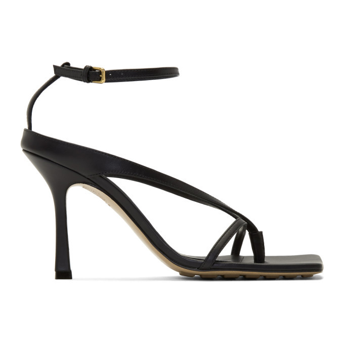Photo: Bottega Veneta Black Stretch Sandals