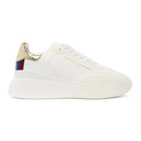 Stella McCartney White and Gold Loop Sneakers