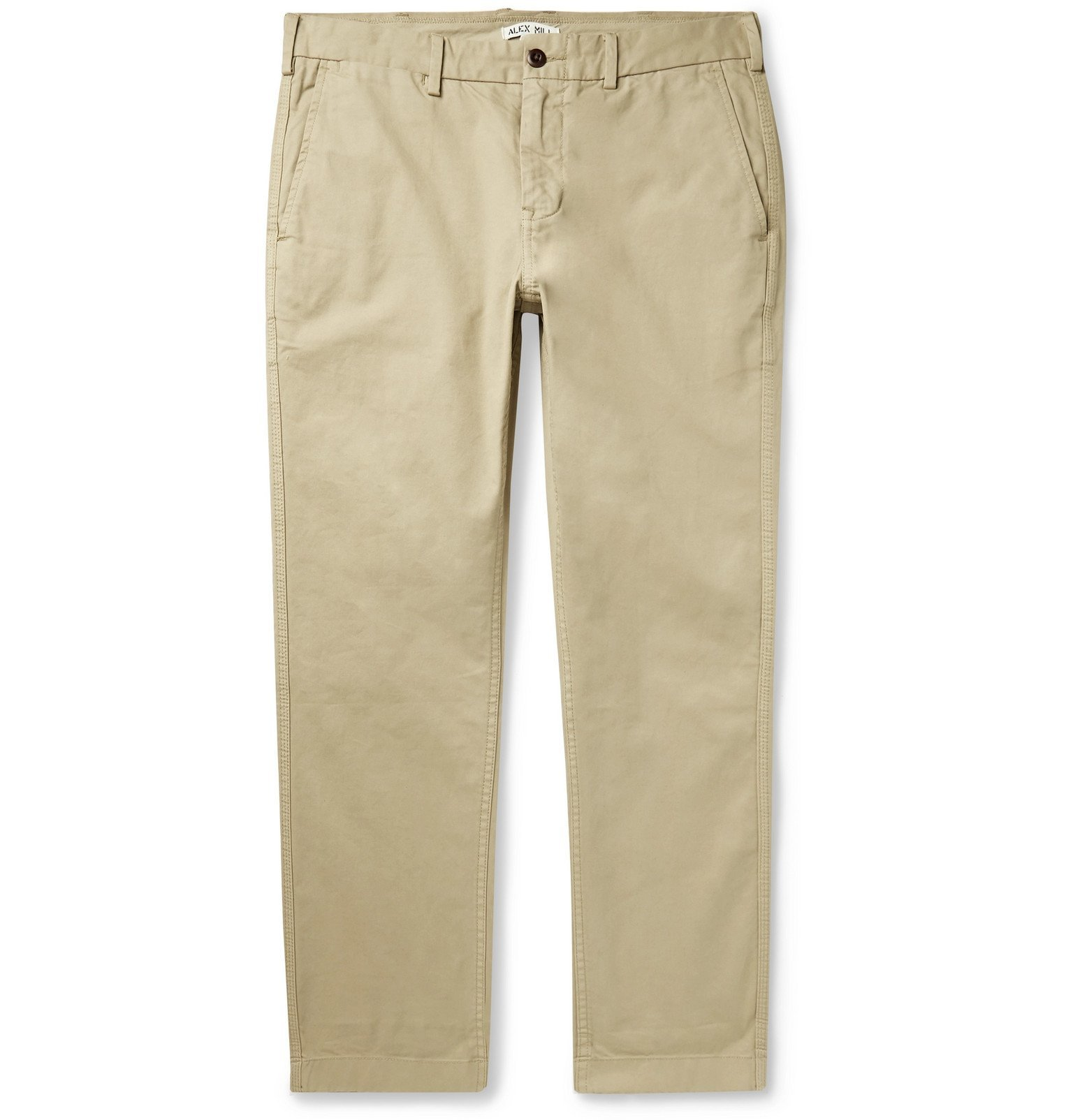 Photo: Alex Mill - Slim-Fit Cotton-Blend Twill Chinos - Neutrals