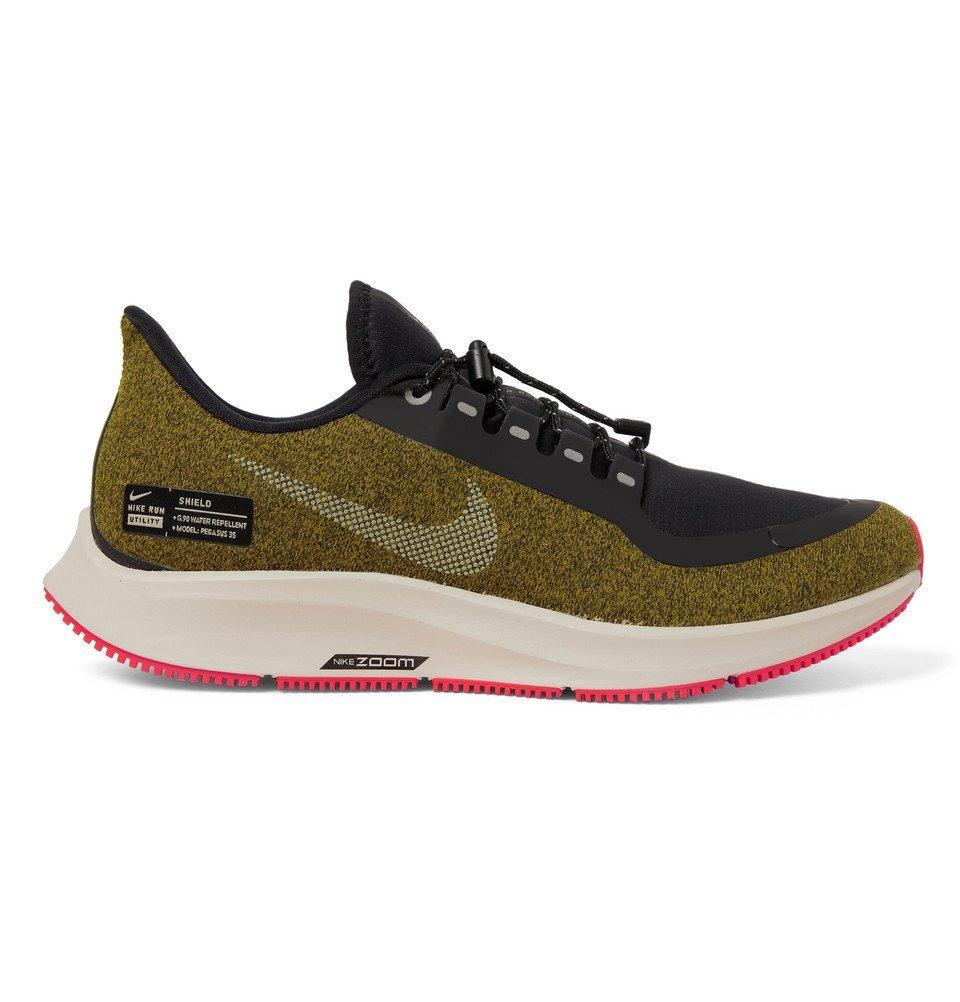 Nike Running - Air Zoom Pegasus 35 Shield Water-Repellent Sneakers - Men - Army green