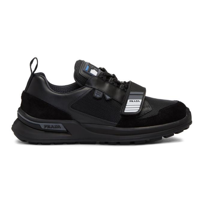 Photo: Prada Black Strap Sneakers