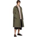 Sacai Khaki Fabric Combo Coat