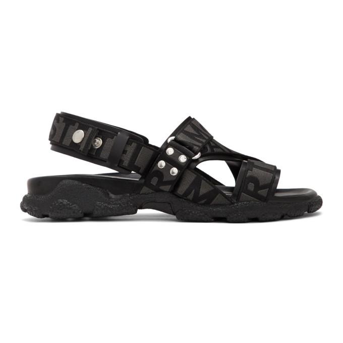 Photo: Stella McCartney Black Logo Strap Sandals