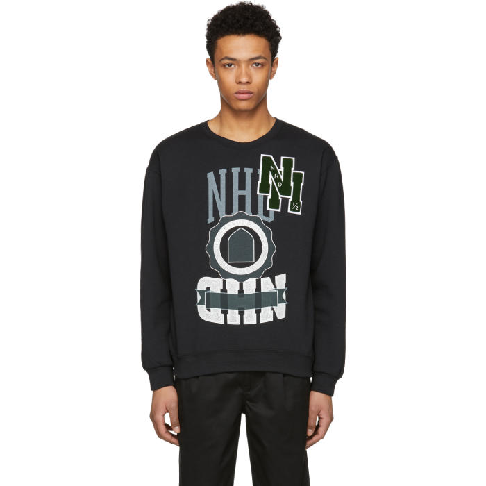 Photo: N.Hoolywood Black Logo Sweatshirt