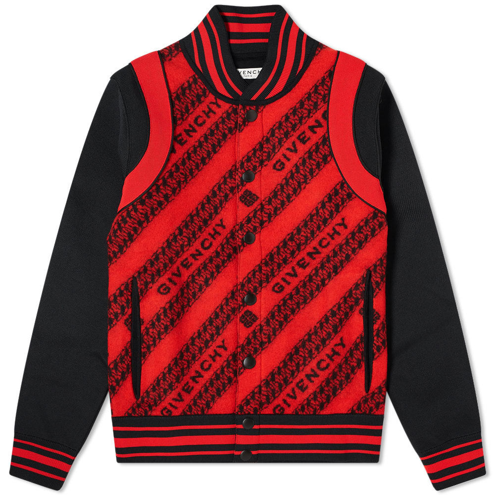 Photo: Givenchy Chain Jacquard Knitted Bomber Jacket