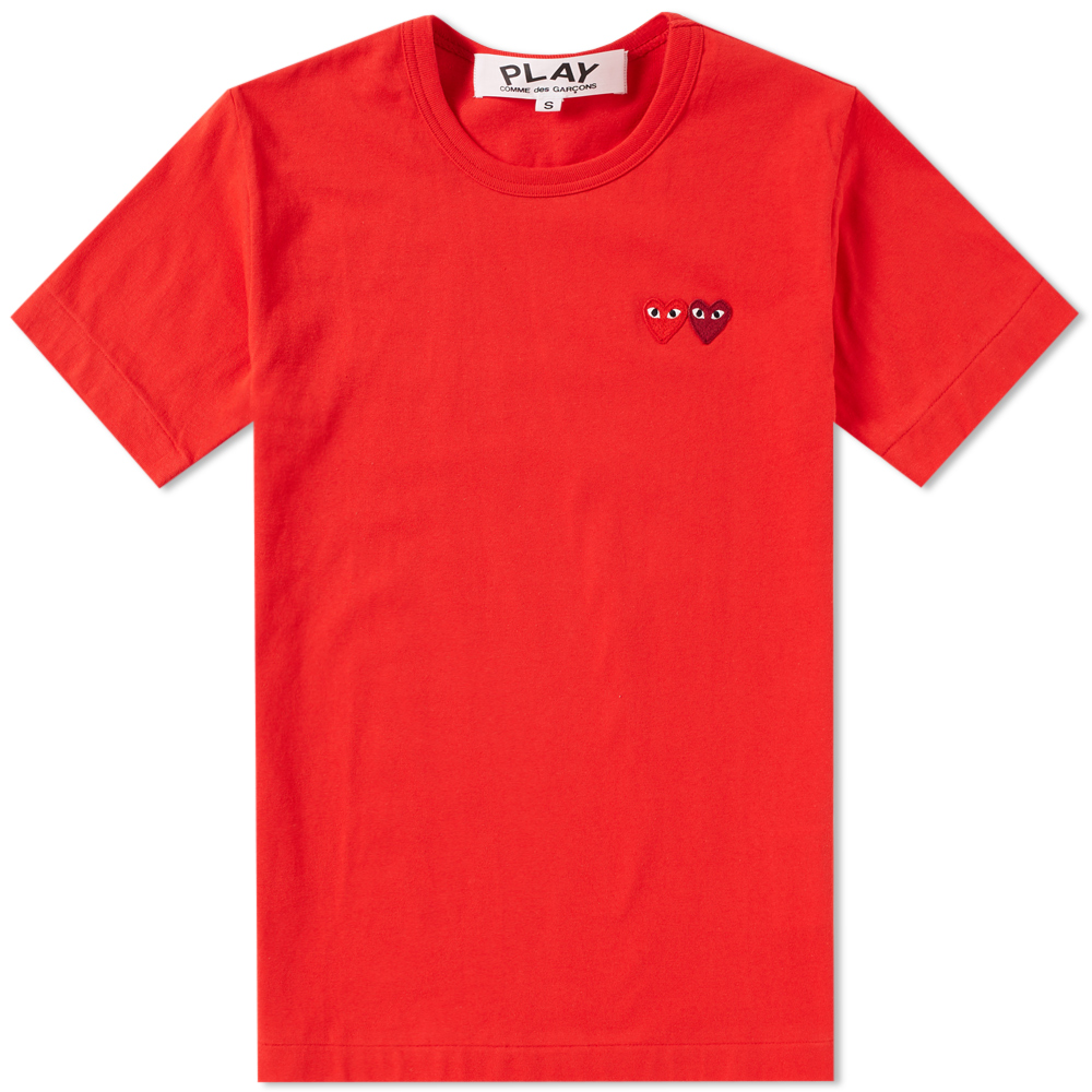 Photo: Comme des Garcons Play Double Heart Tee