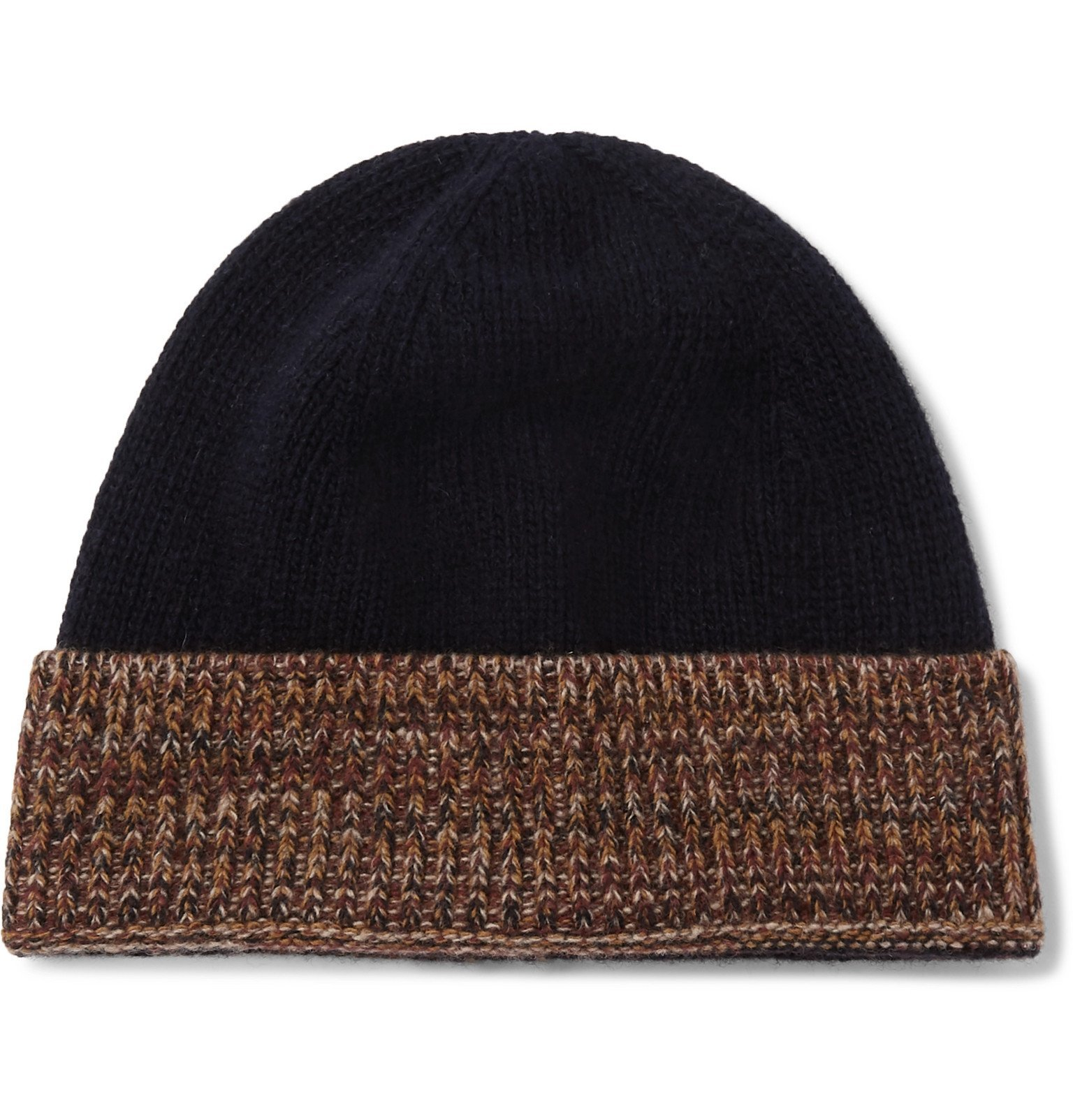 Photo: Oliver Spencer - Arbury Mélange-Trimmed Wool Beanie - Blue