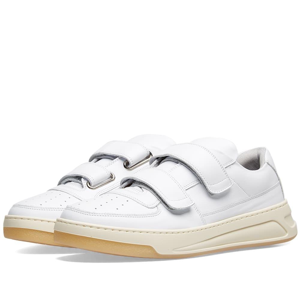 Acne Studios Perey Two Strap Sneaker White