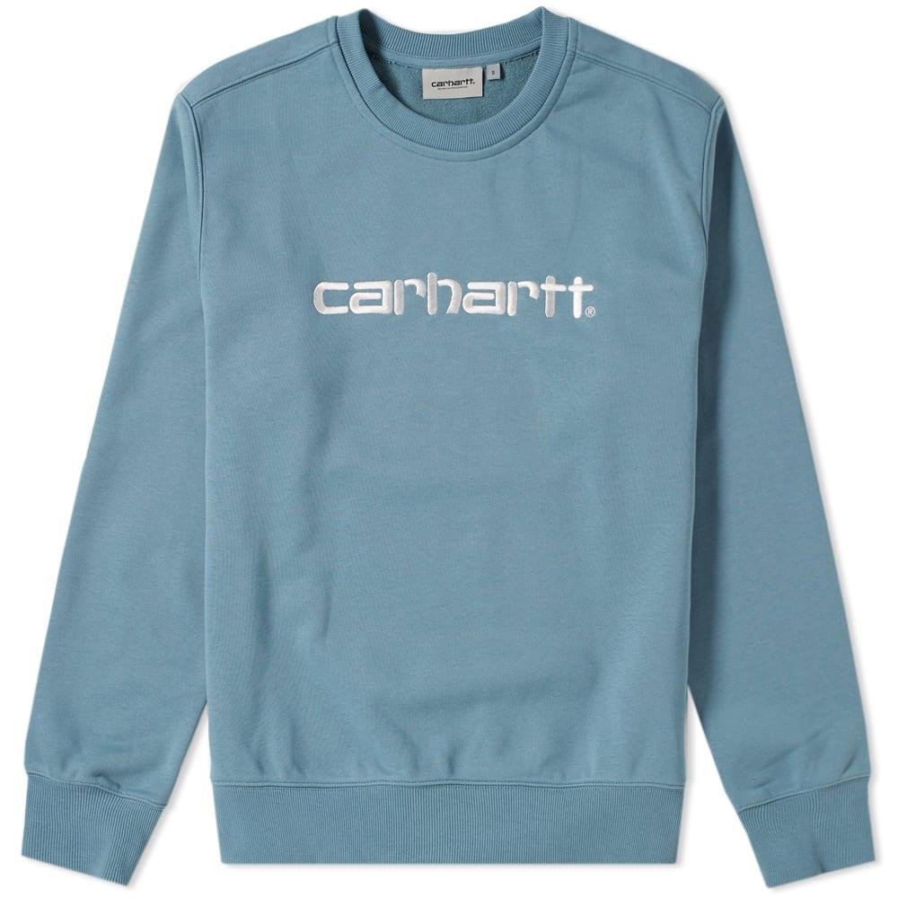 Photo: Carhartt Embroidered Logo Crew Sweat Blue