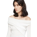 Nina Ricci White Pleated Sweater