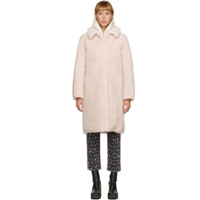 Photo: Yves Salomon - Meteo Pink Shearling Long Coat