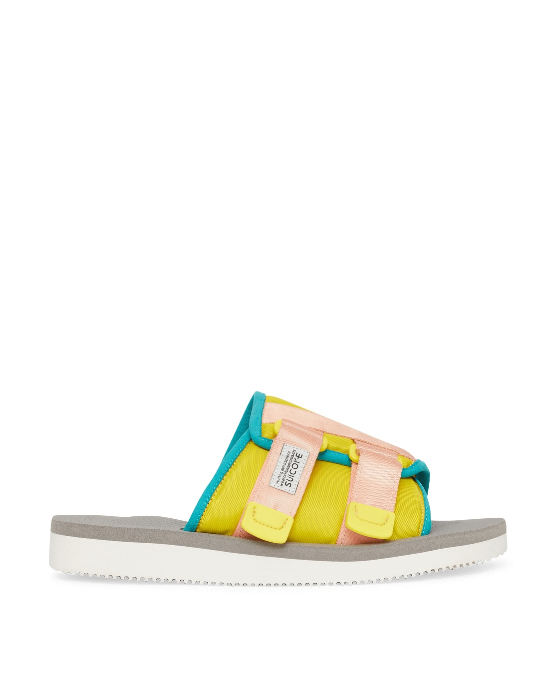 Photo: Suicoke Kaw Cab Sandals Yellow/Gray