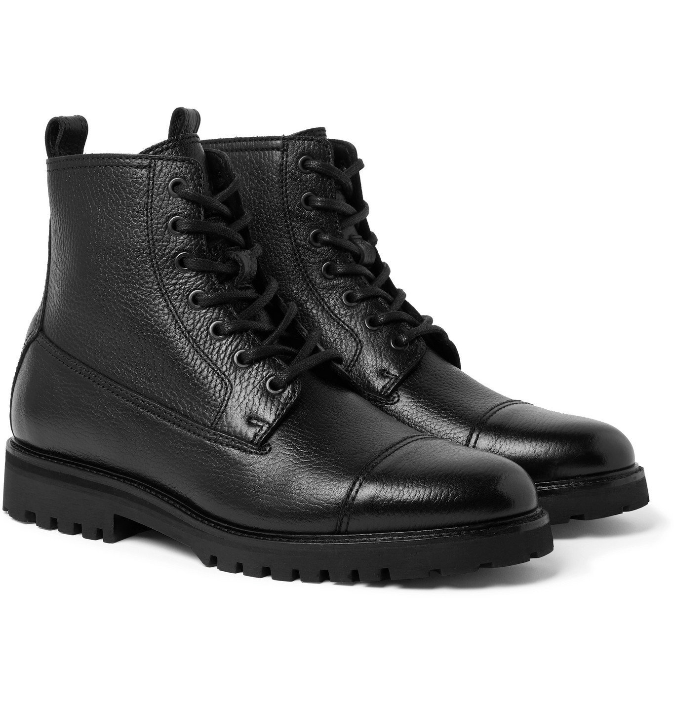 Photo: Belstaff - Alperton Full-Grain Leather Boots - Black