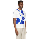 Botter Off-White and Blue Flower Classic T-Shirt