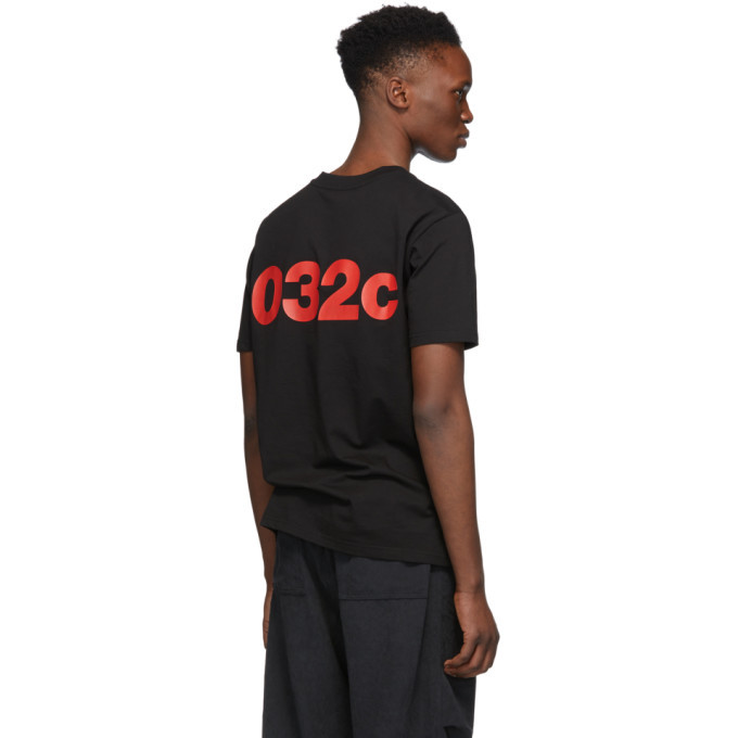 032c Black Cosmic Workshop Logo T-Shirt