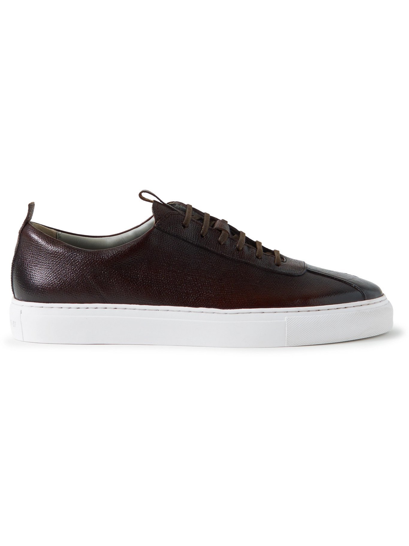 Photo: GRENSON - Full-Grain Leather Sneakers - Brown