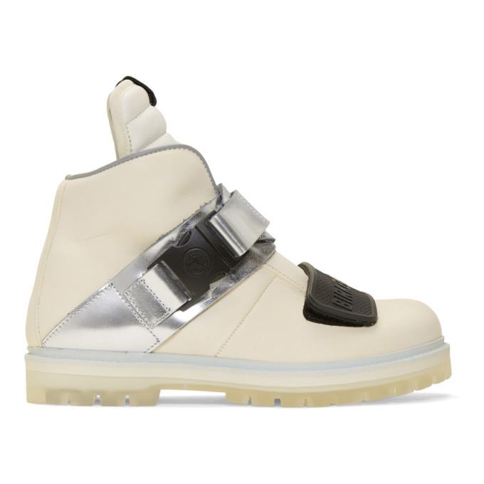 Photo: Rick Owens White Birkenstock Edition Hancock Rotterhiker Sneakers
