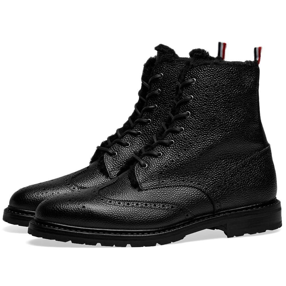 Photo: Thom Browne Shearling Lined Classic Wingtip Boot