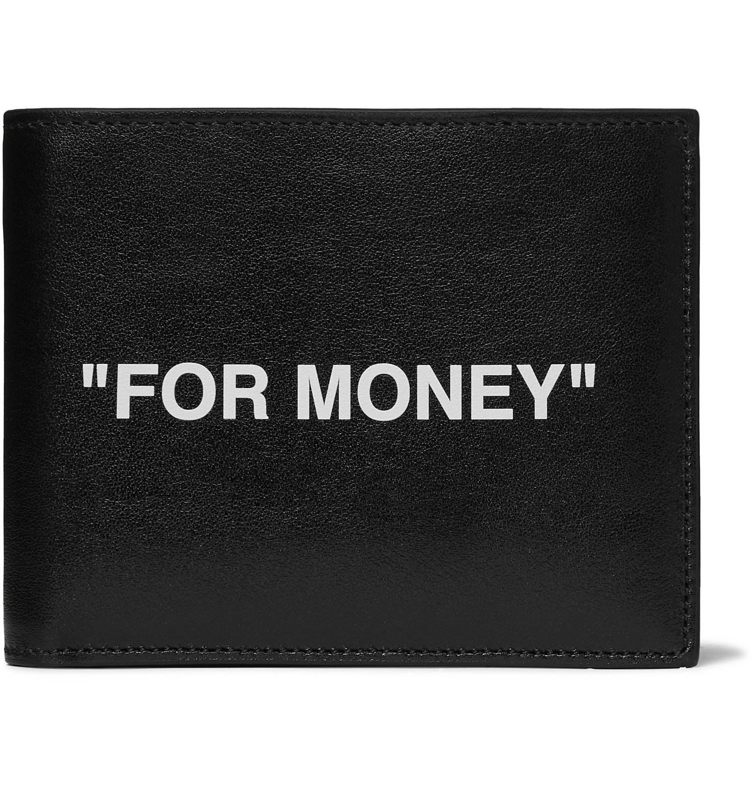 Photo: Off-White - Printed Leather Billfold Wallet - Black