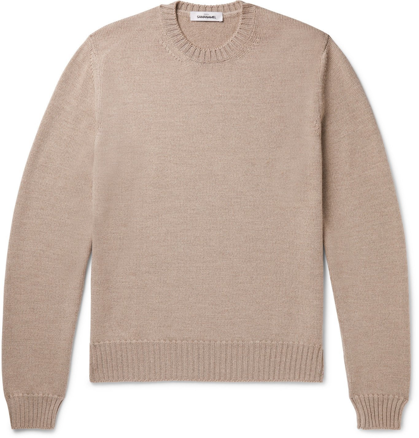 Photo: Saman Amel - Slim-Fit Merino Wool Sweater - Neutrals
