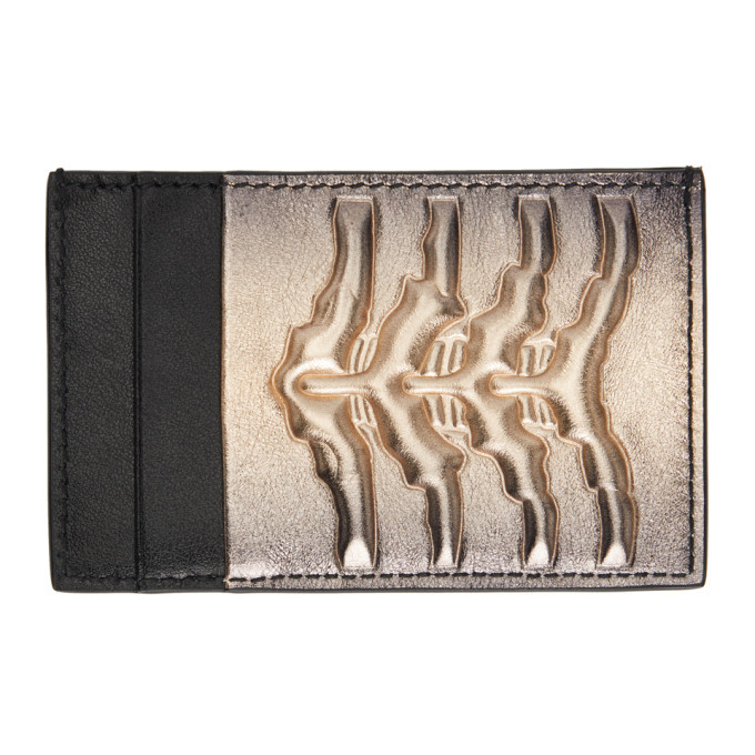 Photo: Alexander McQueen Black and Gold Rib Cage Card Holder