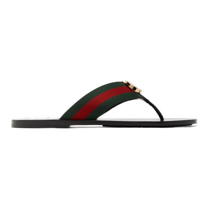 Photo: Gucci Red and Green Kika Thong Sandals